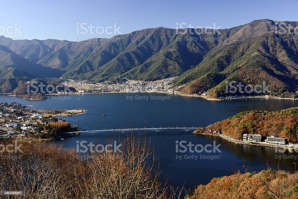 Lake Kawaguchiko stock photo