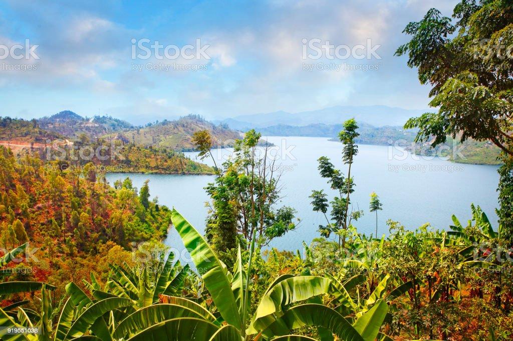 Lake Kivu stock photo
