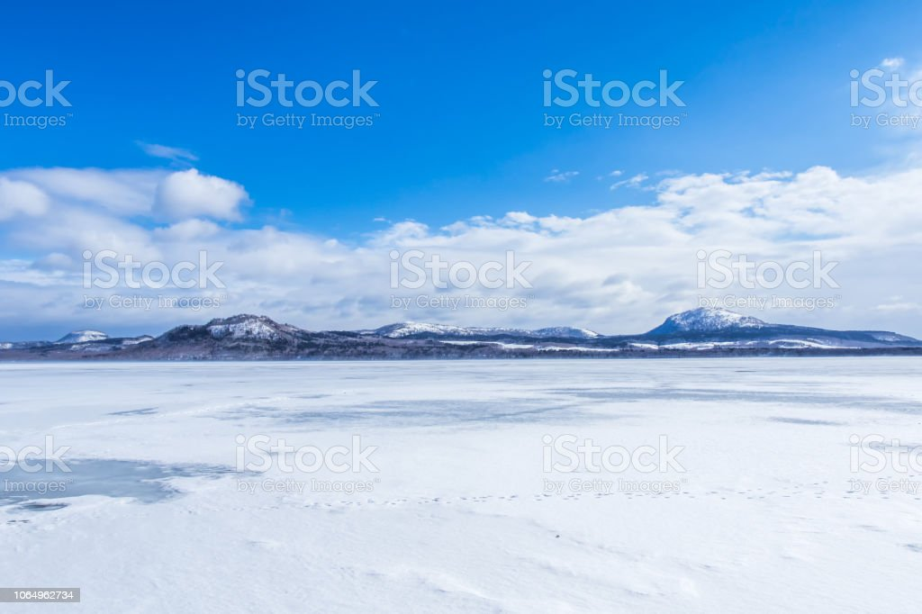 屈斜路湖 (阿寒摩周国立公園), 北海道, 日本. ストックフォト