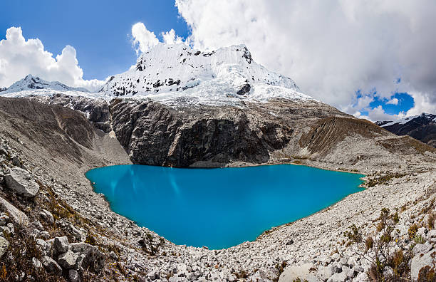 lake laguna 69 and chakrarahu mountain - number 69 stock photos and pictures
