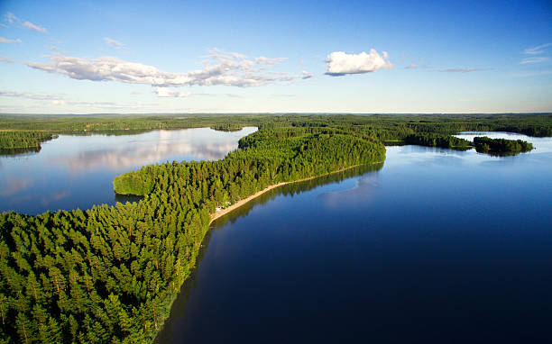 lake landscape - finland stock pictures, royalty-free photos & images