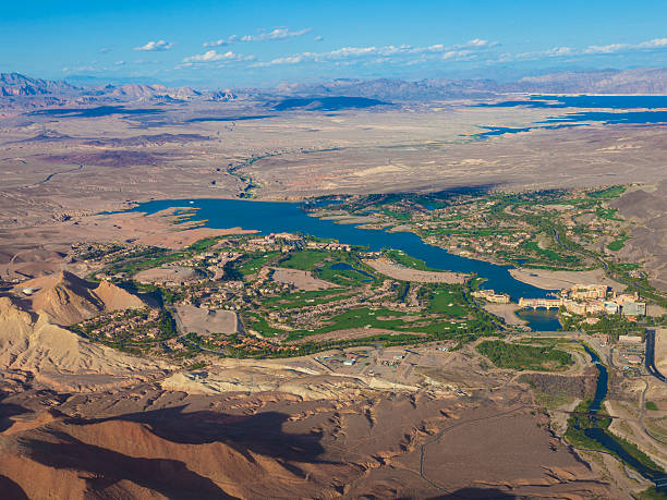 lake las vegas aerial photo - clark county nevada stock pictures, royalty-free photos & images