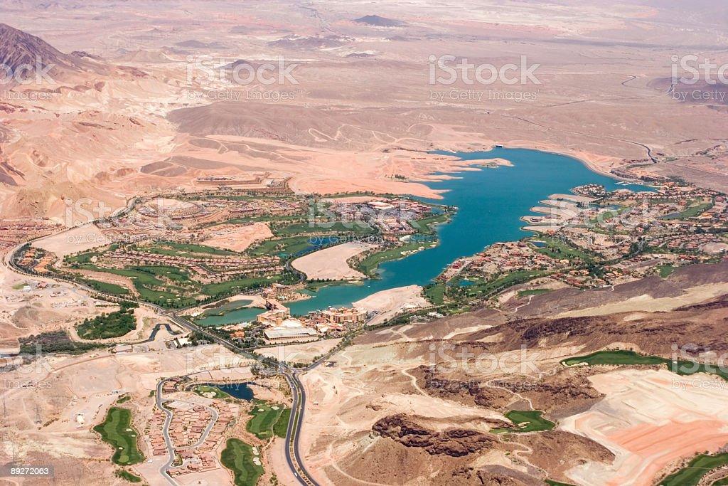 Lake Las Vegas royalty-free stock photo
