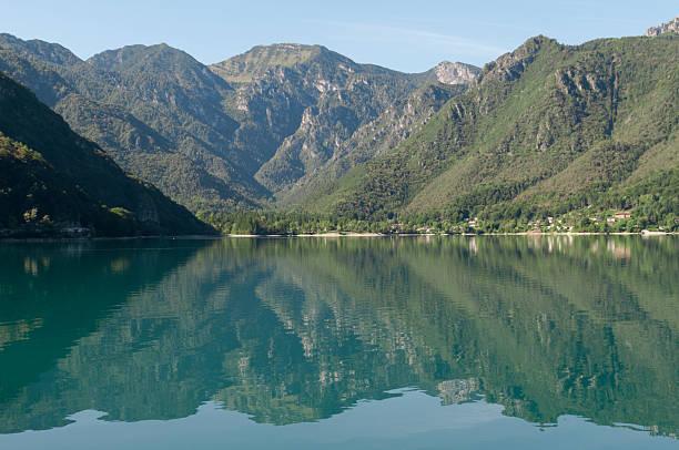 lake ledro stock photo