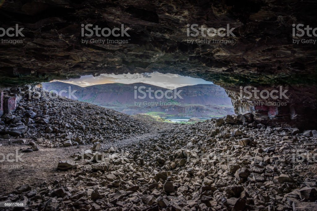 Lake Lenore Caves stock photo