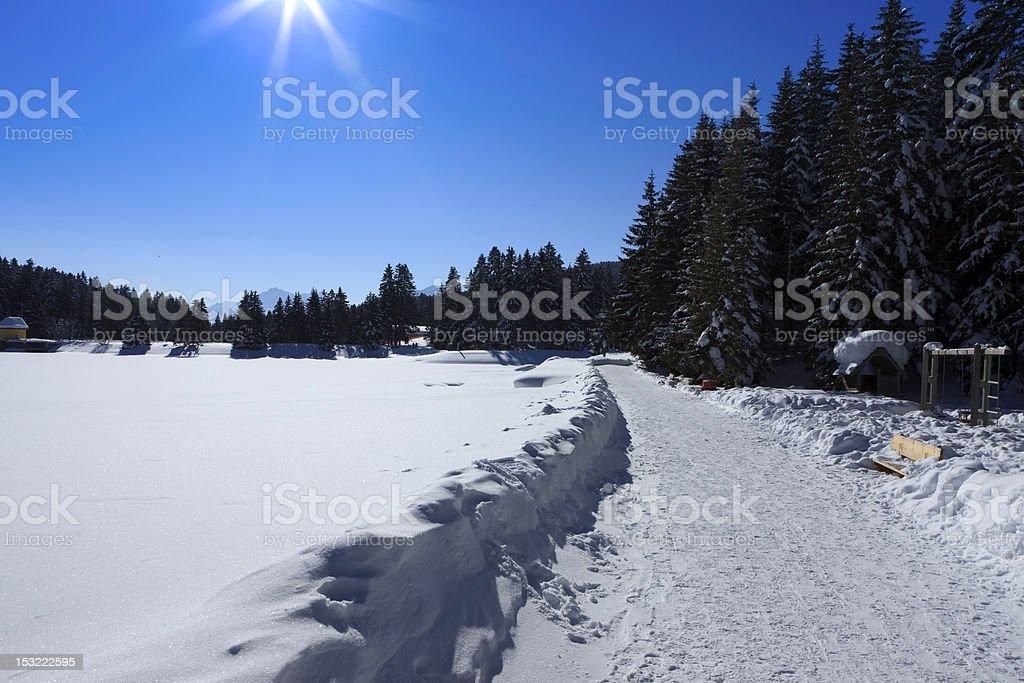 Lake Lenzerheide - Switzerland stock photo