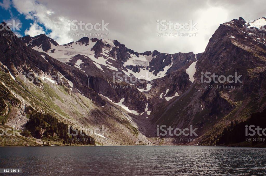 Lake light. Beautiful landscape stock photo
