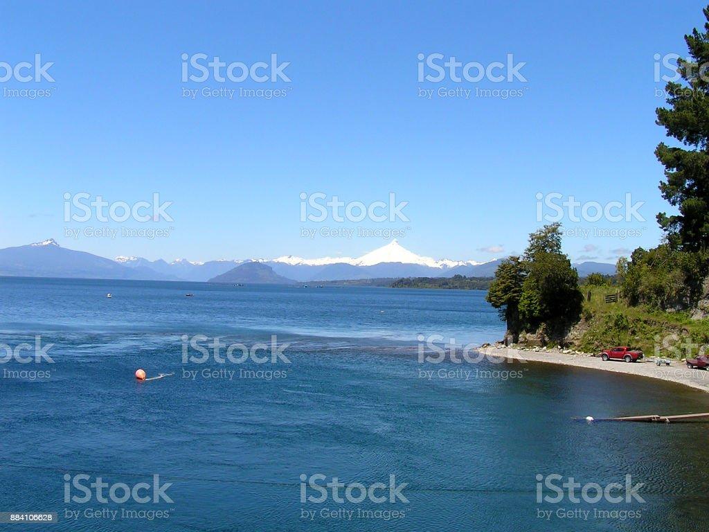 Lake Llanquihue-Chile stock photo