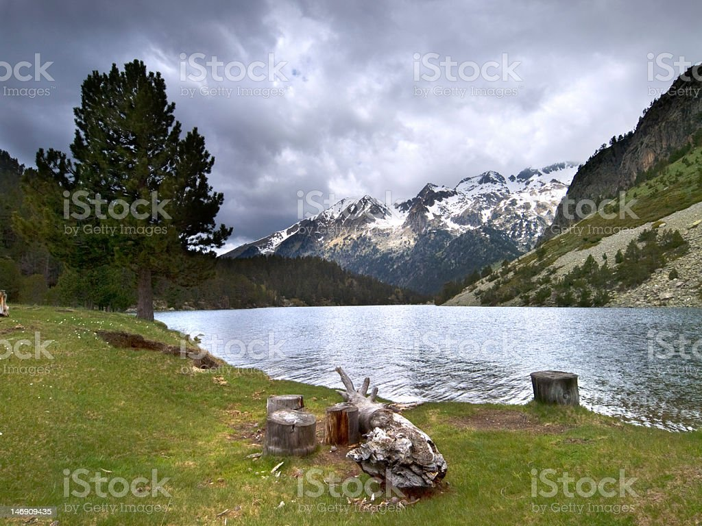 Lake 'Llong' stock photo