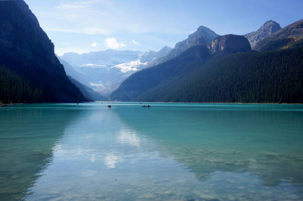 Lake Louise, Alberta, Canada stock photo