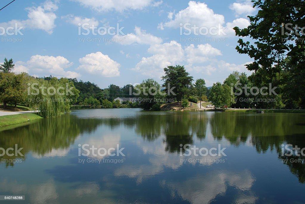 Lake Louise, Asheville, North Caroline stock photo