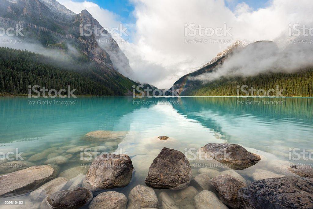 Lake Louise, Banff National Park, Canada stock photo