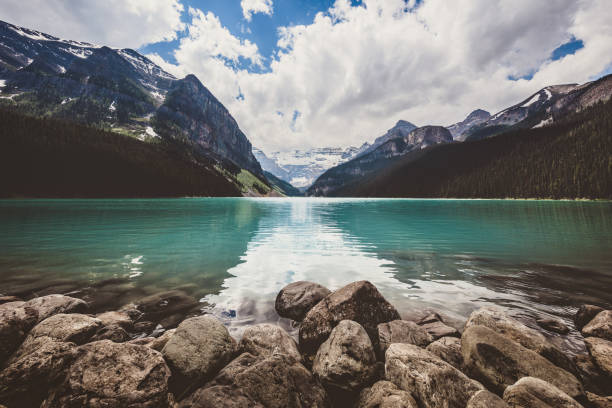 Lake Louise in Canada stock photo
