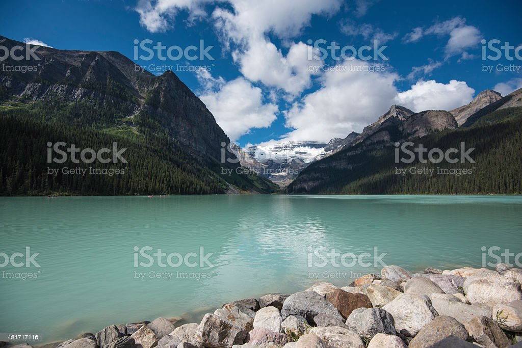 Lake Louise in Summer stock photo