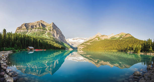 Lake Louise Landscape Banff National Park in Alberta, Canada ARPA stock pictures, royalty-free photos & images
