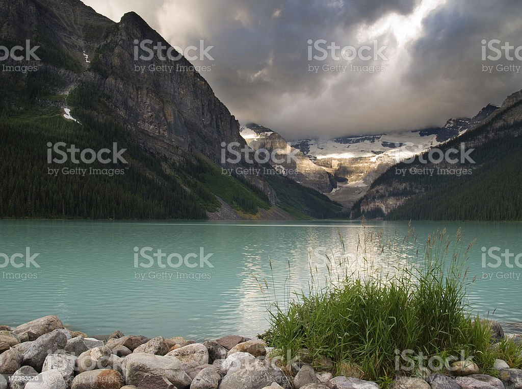 Lake Louise Sunrise royalty-free stock photo