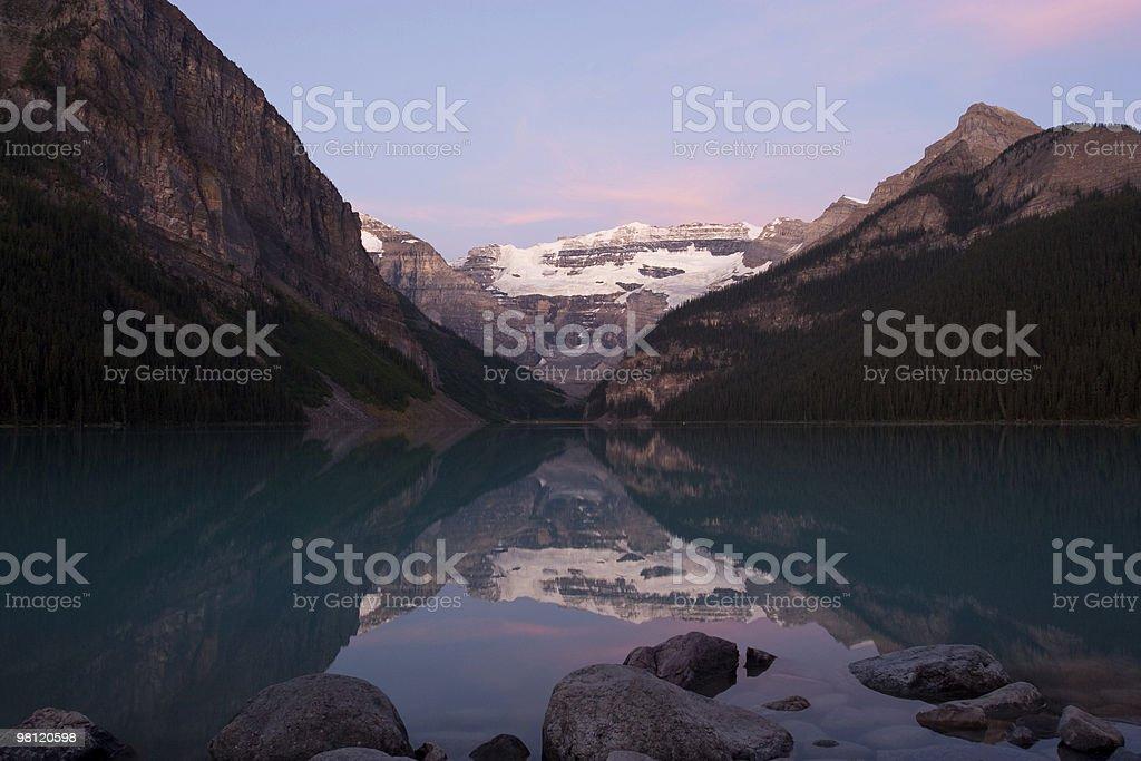 Lake Louise Sunrise royalty-free stock photo
