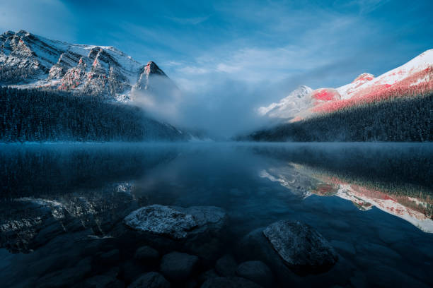 Lake Louise, Winter-Ansicht – Foto