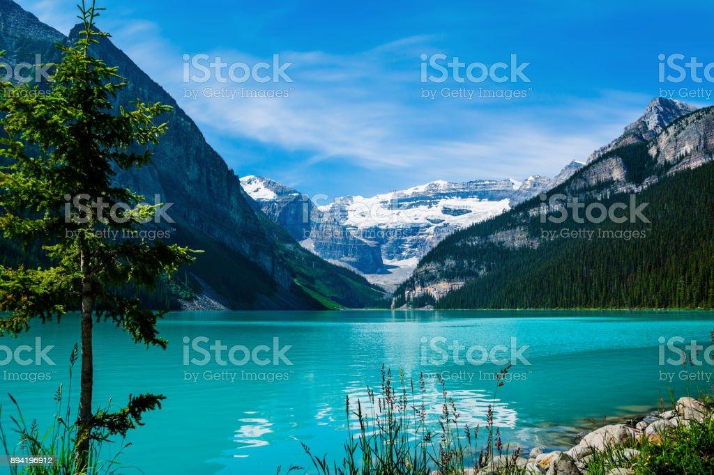 Lake Louse, Canada stock photo