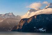 beautiful lake lucerne in switzerland,europe.