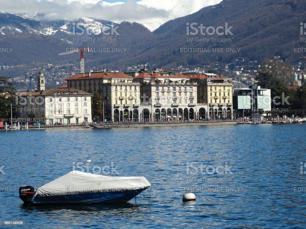 Lake Lugano in Switzerland royalty-free stock photo