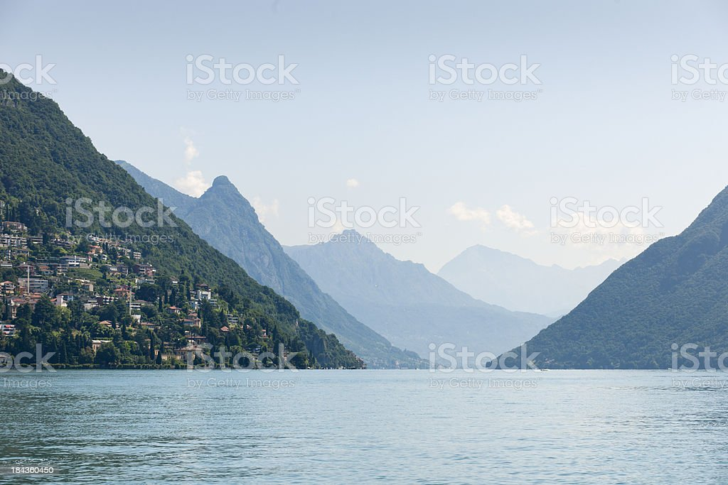 Lake Lugano Switzerland royalty-free stock photo