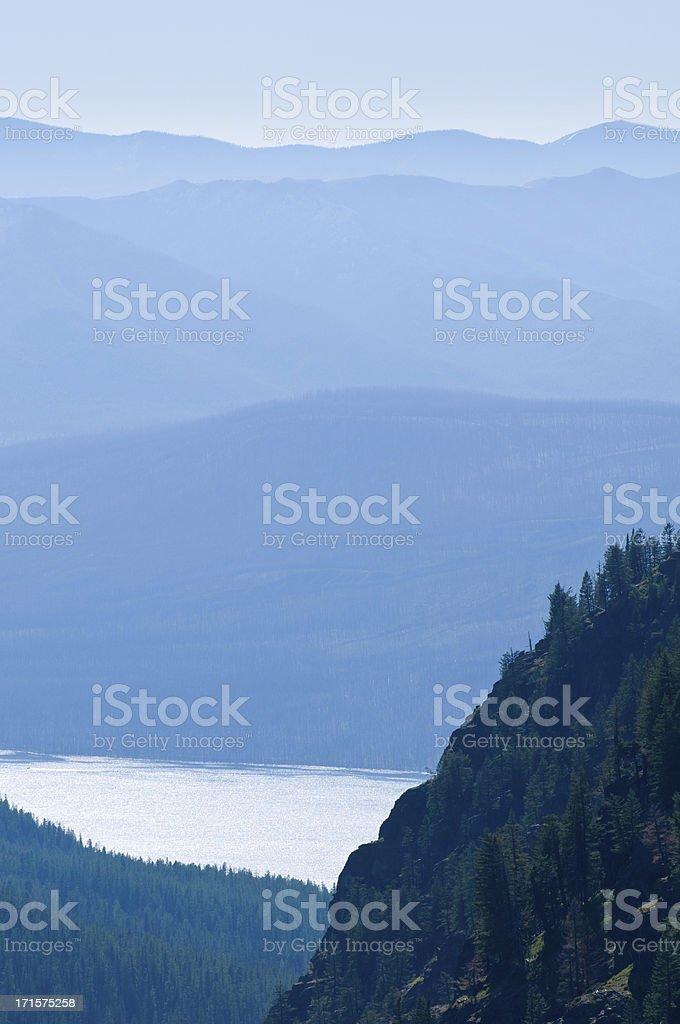 Lake Macdonald View Glacier National Park royalty-free stock photo