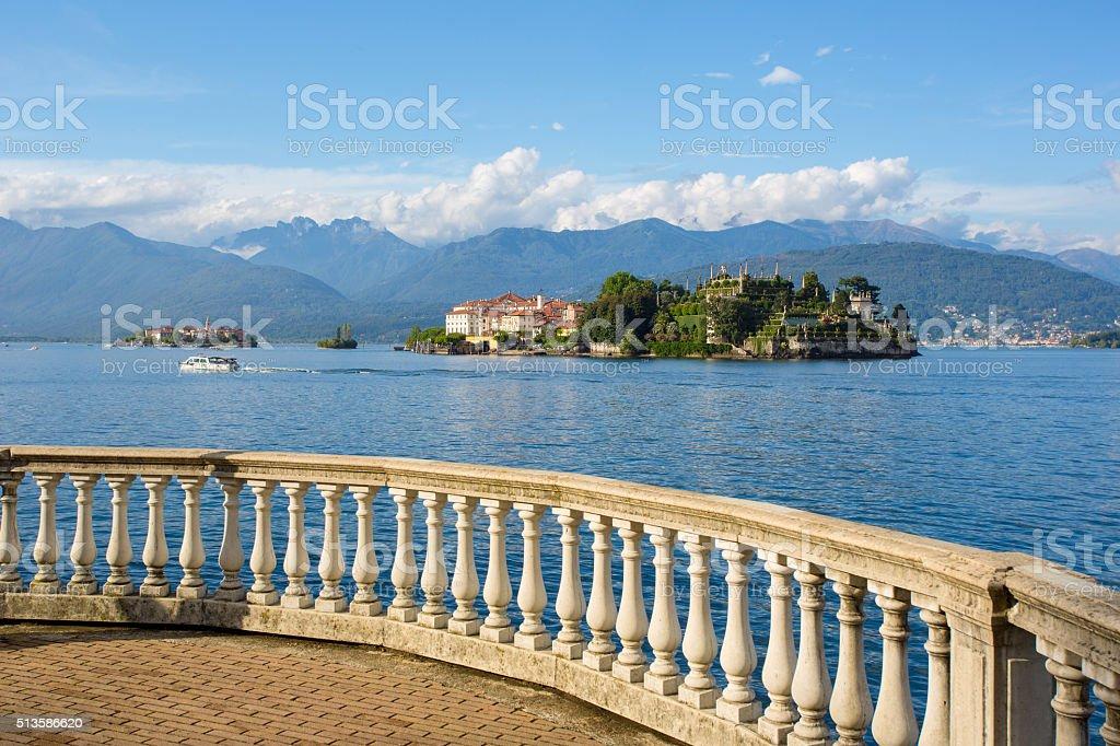 Lake maggiore Island Bella, Stresa Italy stock photo