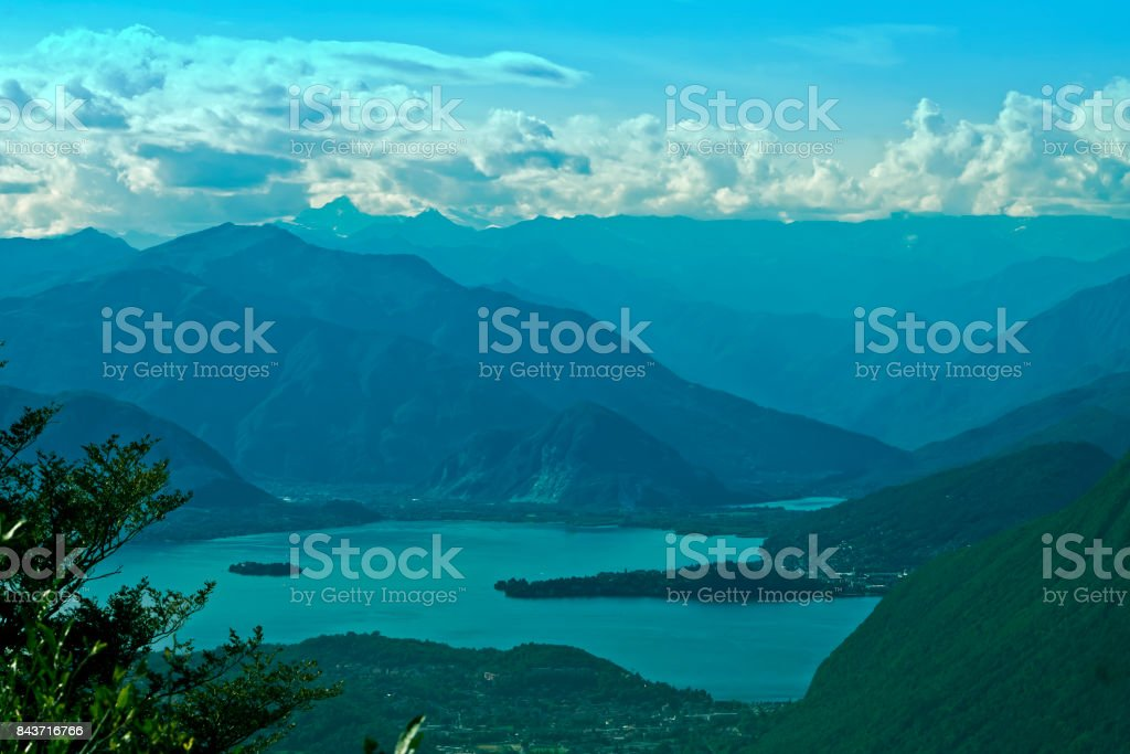 Lake Maggiore panorama stock photo