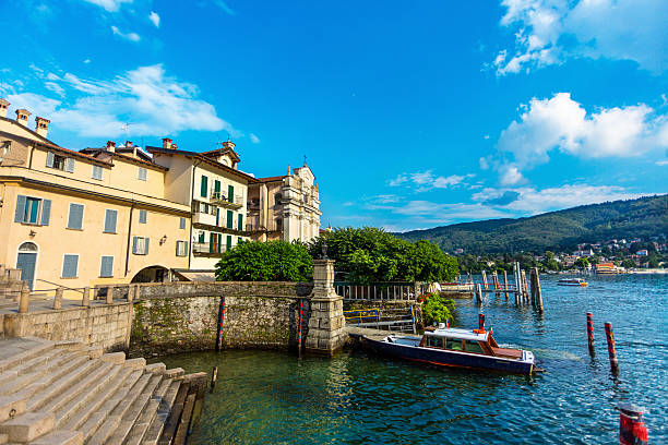 Lake Maggiore, Stresa, Italy stock photo