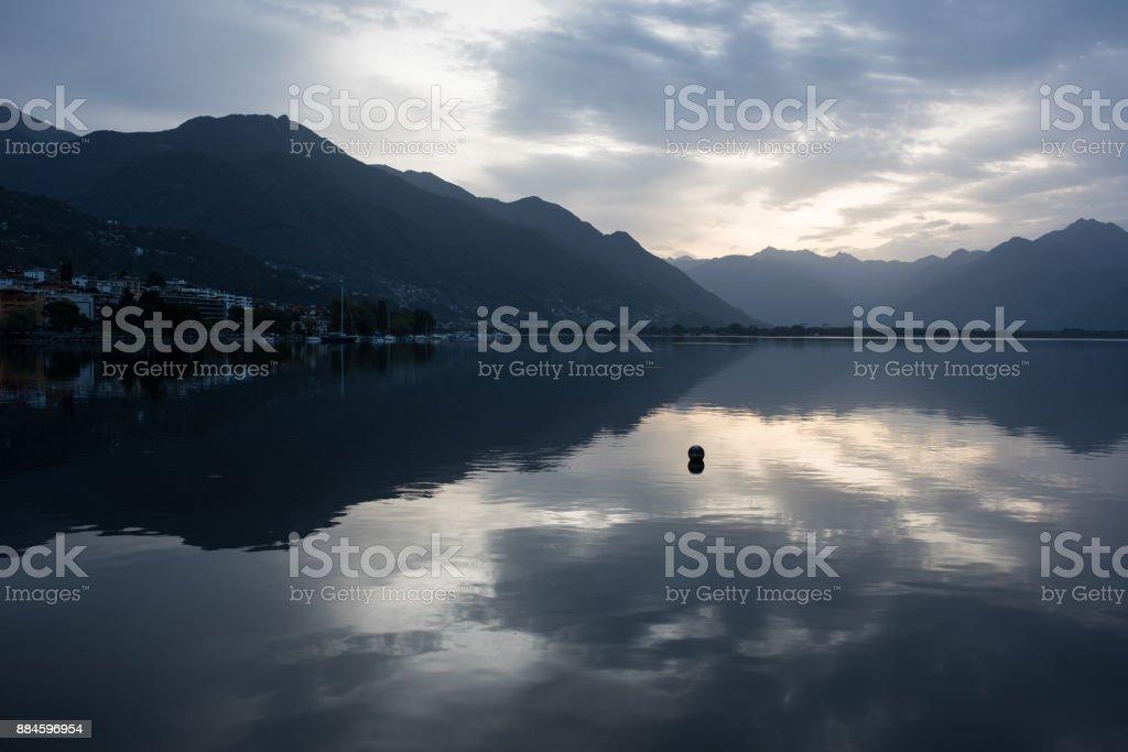 Lago Maggiore Sunrise, Locarno Schweiz – Foto