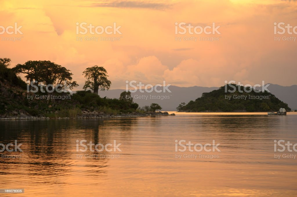 Lake Malawi Sunset stock photo