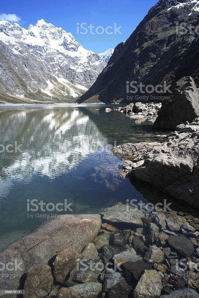 Lake Marian On New Zealand's South Island royalty-free stock photo