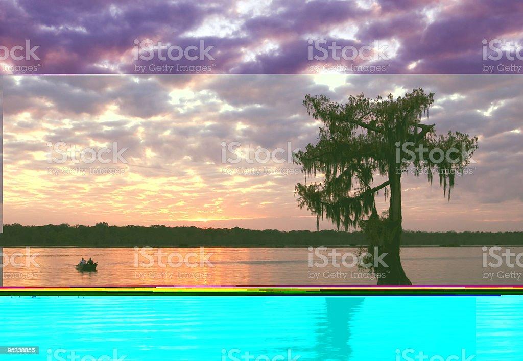 Lake Martin Sunset stock photo