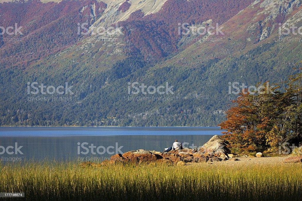 Lake Mascardi, national park Nahuel Huapi, Argentina stock photo