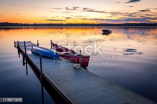 Private dock at Lake Massapoag in Sharon, MA