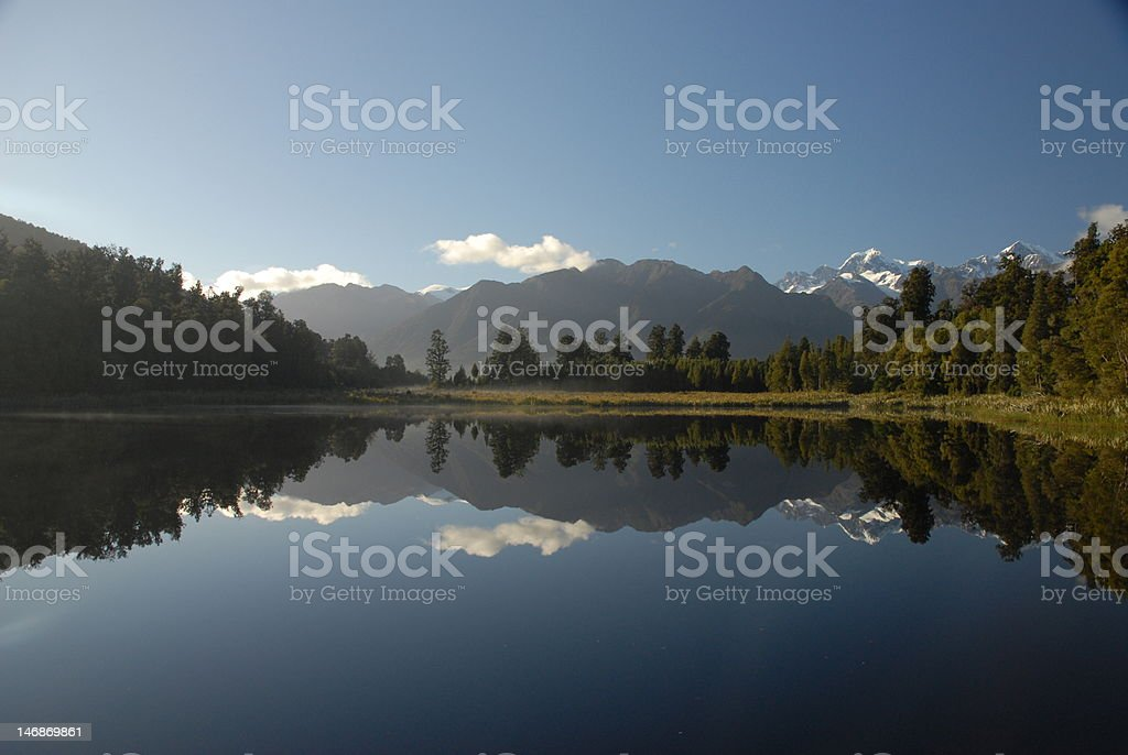 Lake Matheson New Zealand royalty-free stock photo