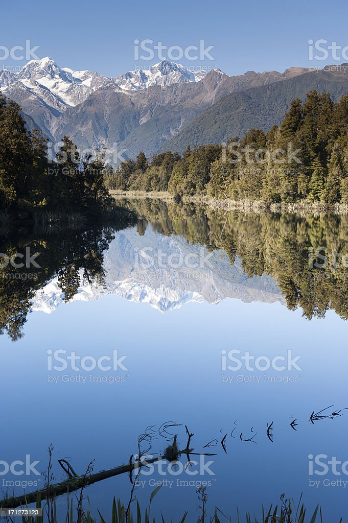 Lake Matheson royalty-free stock photo