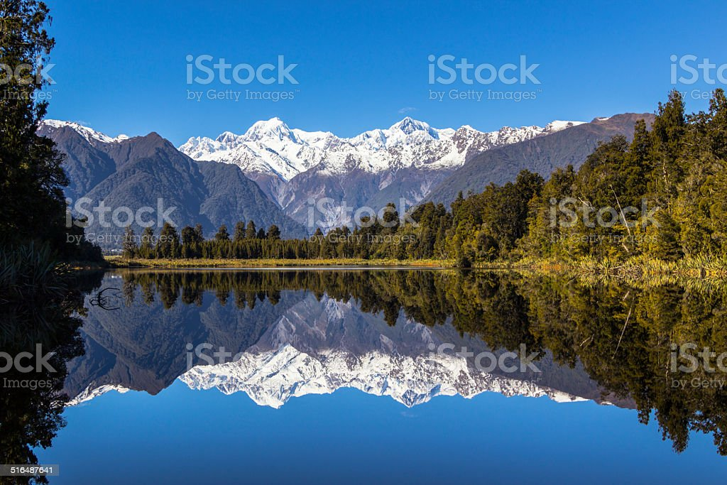 Lake Matheson royalty-free stock photo