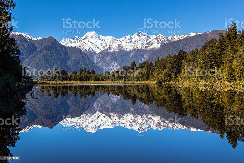 Lake Matheson stock photo