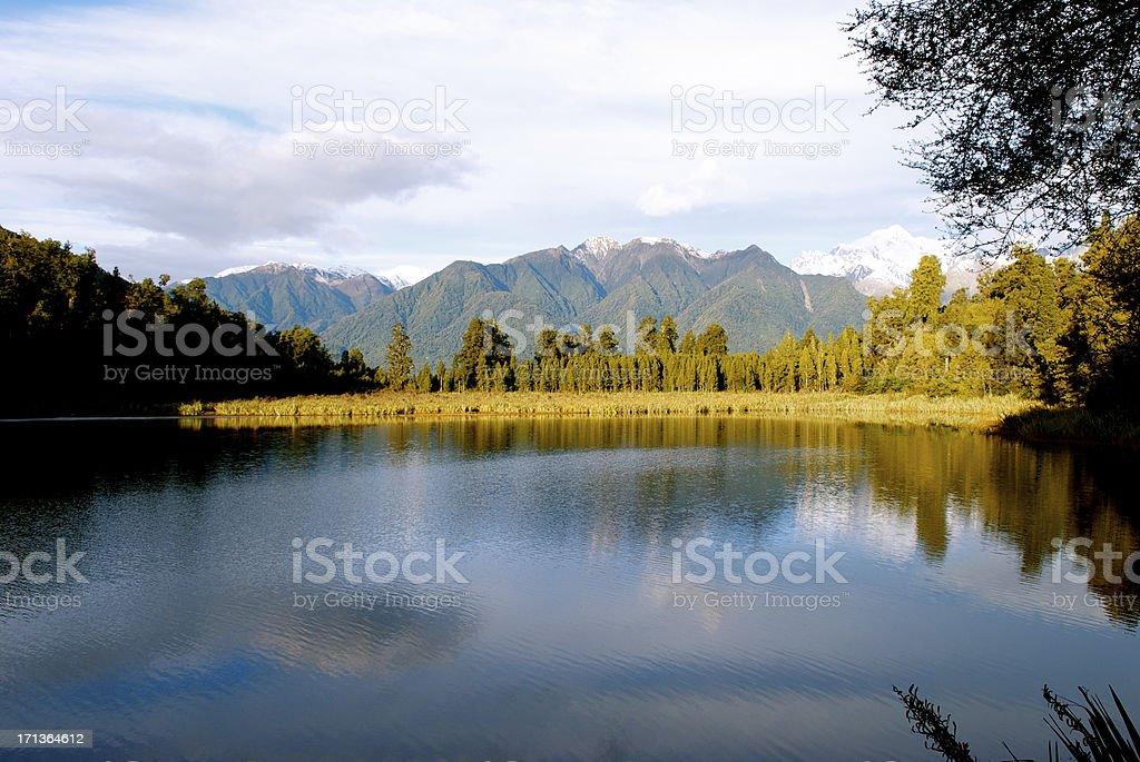 Lake Matheson, West Coast Waterscape, New Zealand royalty-free stock photo
