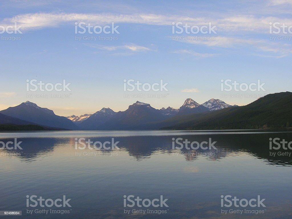 Lake McDonald at Dusk royalty-free stock photo