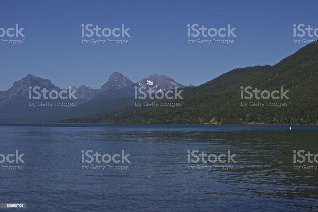 Lake McDonald Blue royalty-free stock photo