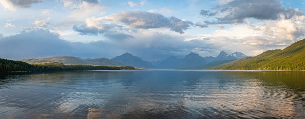 Lake McDonald Glacier National Park stock photo