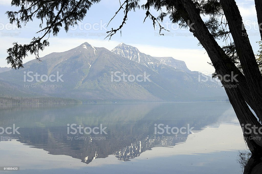 Lake McDonald in Montana royalty-free stock photo