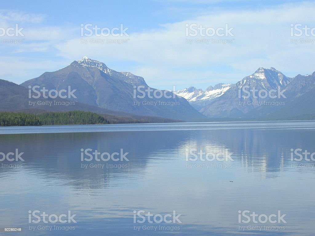 Lake McDonald in the Afternoon 2 royalty-free stock photo