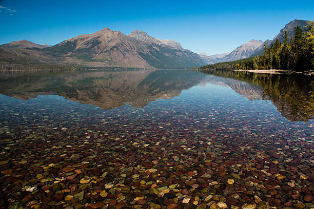 lake mcdonald - mcdonald lake stock pictures, royalty-free photos & images