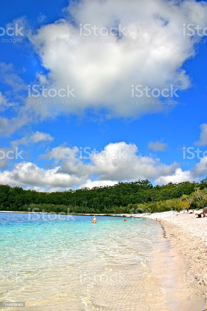 Lake McKenzie, Fraser Island, Australia royalty-free stock photo