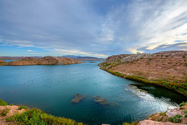 lake mead at dawn - clark county nevada stock pictures, royalty-free photos & images