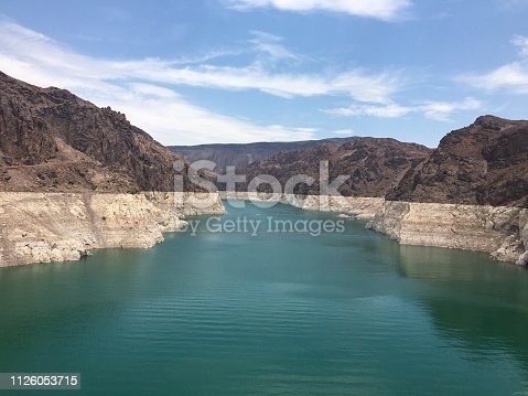 Beautiful tranquil Lake Mead by Hoover Dam